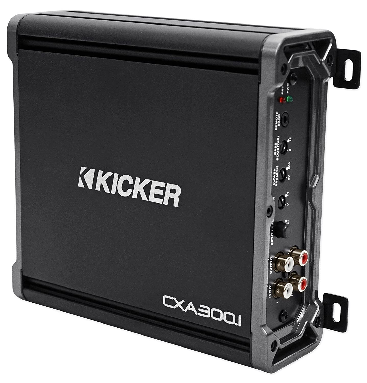 Amazon.com: Package: Kicker 43CXA3001 300 Watt RMS Class D Car ...