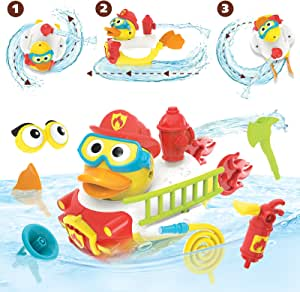 Yookidoo Create a Firefighter Bath Toy, Yellow