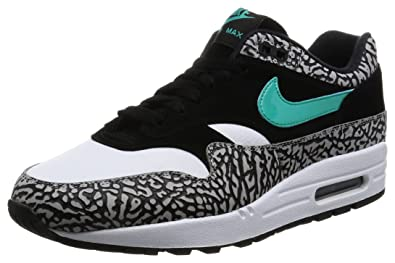 timeless design 75334 6d7cd Nike Air Max 1 Premium Retro Atmos Elephant - Medium Grey/Clear Jade-Black  Trainer: Amazon.fr: Chaussures et Sacs