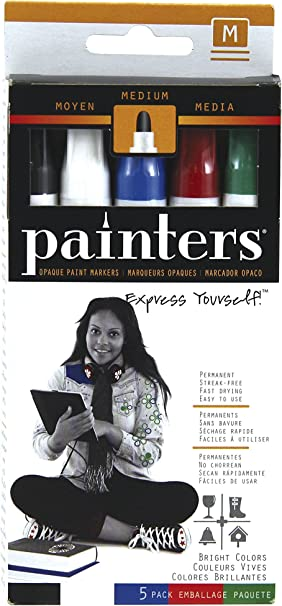 Elmer S Painters Opaque Paint Markers Set Of 5 Markers Bright