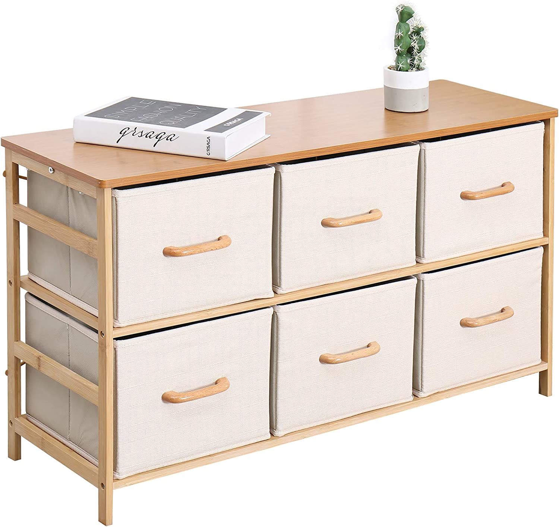 Drawer Dresser Shelf Organizer Chest W// 4 Fabric Drawers Tower Storage Unit New