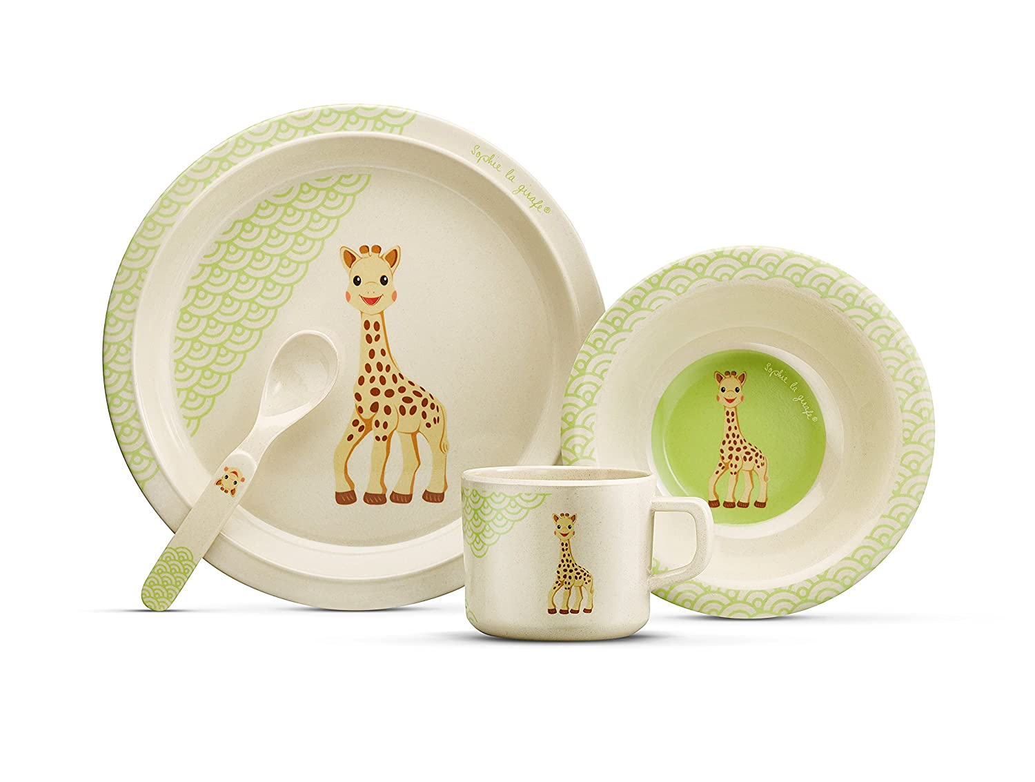 Sophie la girafe So Pure Bamboo Natural Meal Set 1 Two Kids 220124