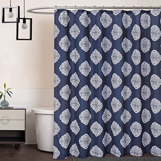 Amazon.com: CAROMIO Extra Long Shower Curtain 96 Inch, Medallion