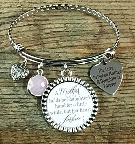 Daughter Gift From Mom Gifts For Mother Jewelry Charm Bracelet Birthday Holds Her Daughters Hand