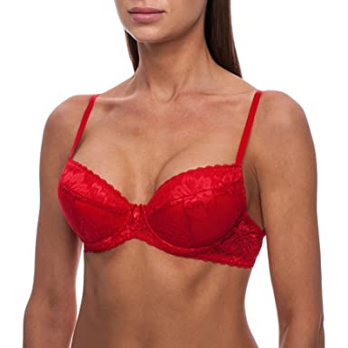 694a53800a5b06 frugue Damen Spitzen Super Push Up BH - Sexy - Dirndl BH