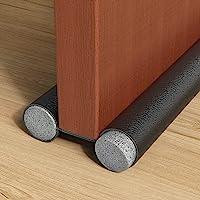 H HOME-MART Twin Draft Stoppers for Bottom of Doors 1 Pack Door Draft Blocker Guard Noise Light Odor Reduction…