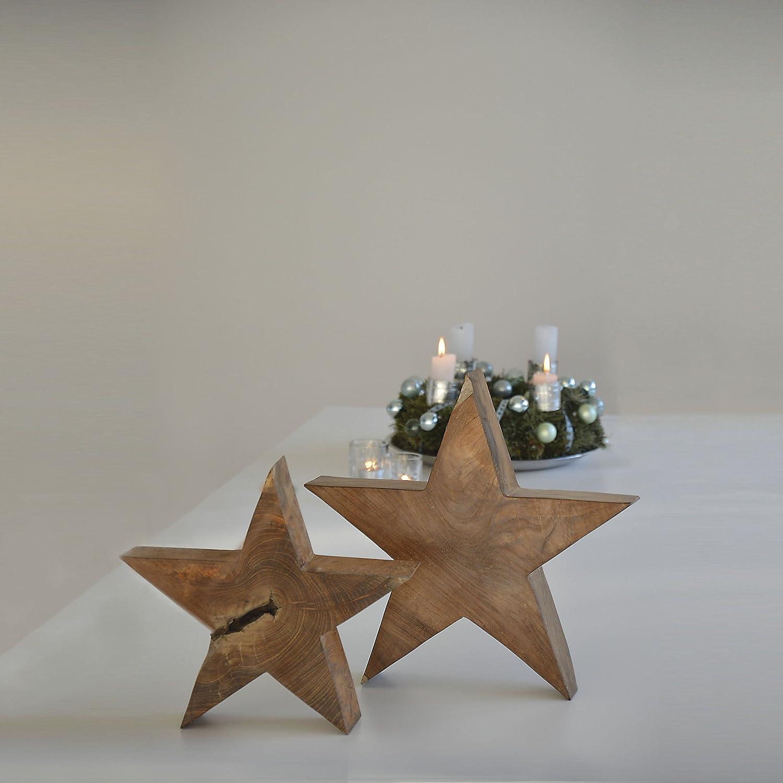 Star Holzstern 40 x 8 cm, h 40 cm