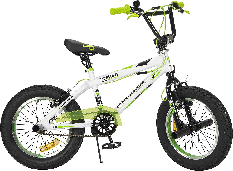 TOIMSA - Bicicleta BMX Freestyle de 16 Pulgadas, 5 a 8 años, 536 ...