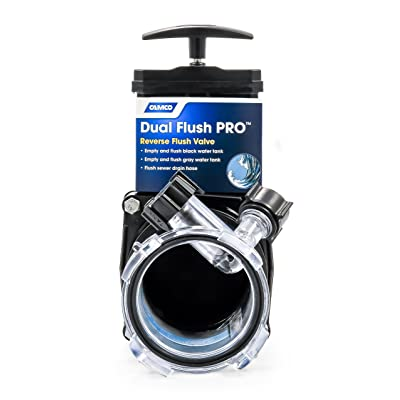 Camco Dual Flush Pro Holding Tank Rinser with Gate Valve- Thoroughly Cleans Entire Septic System and Breaks Down Tough Clogs in Pipes (39062): Automotive