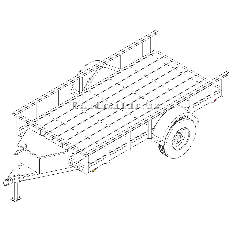 3,500 lb Capacity Trailer Blueprints Model U60-120-35J 5/′ x 10/′ Utility Trailer Plans