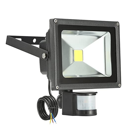 LED 20W Flood Light 3000K IP65,Flood Light,Foco LED con Sensor ...