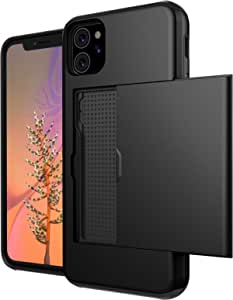 For Iphone 11 Case Cell Phone Wallet Case Credit Card Holder Flip Case Fully Body Protective Soft Hybrid TPU Hard PC Durable Non Scratch