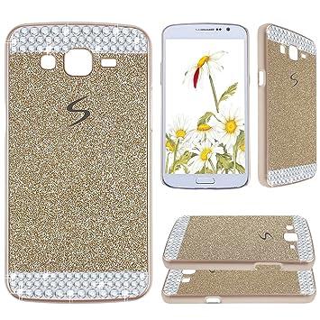 Asnlove para Samsung Galaxy Grand 2 G7106 Funda y carcasa bling con diamante rigida dura policardonato cover goma ultrafino diseño bling case ...