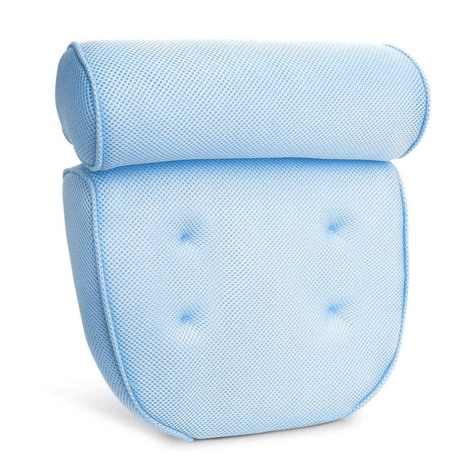 Bath Pillows For Tub Neck Support – Waterproof Bath Tub Pillow Rest for Neck and Shoulder Jacuzzi Spa Bathtub Cushion Headrest KP SOLUTION