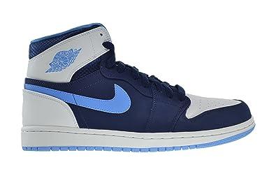 c4ab569a22d9 Jordan Air 1 Retro High Men s Shoes Midnight Navy University Blue-White  332550-