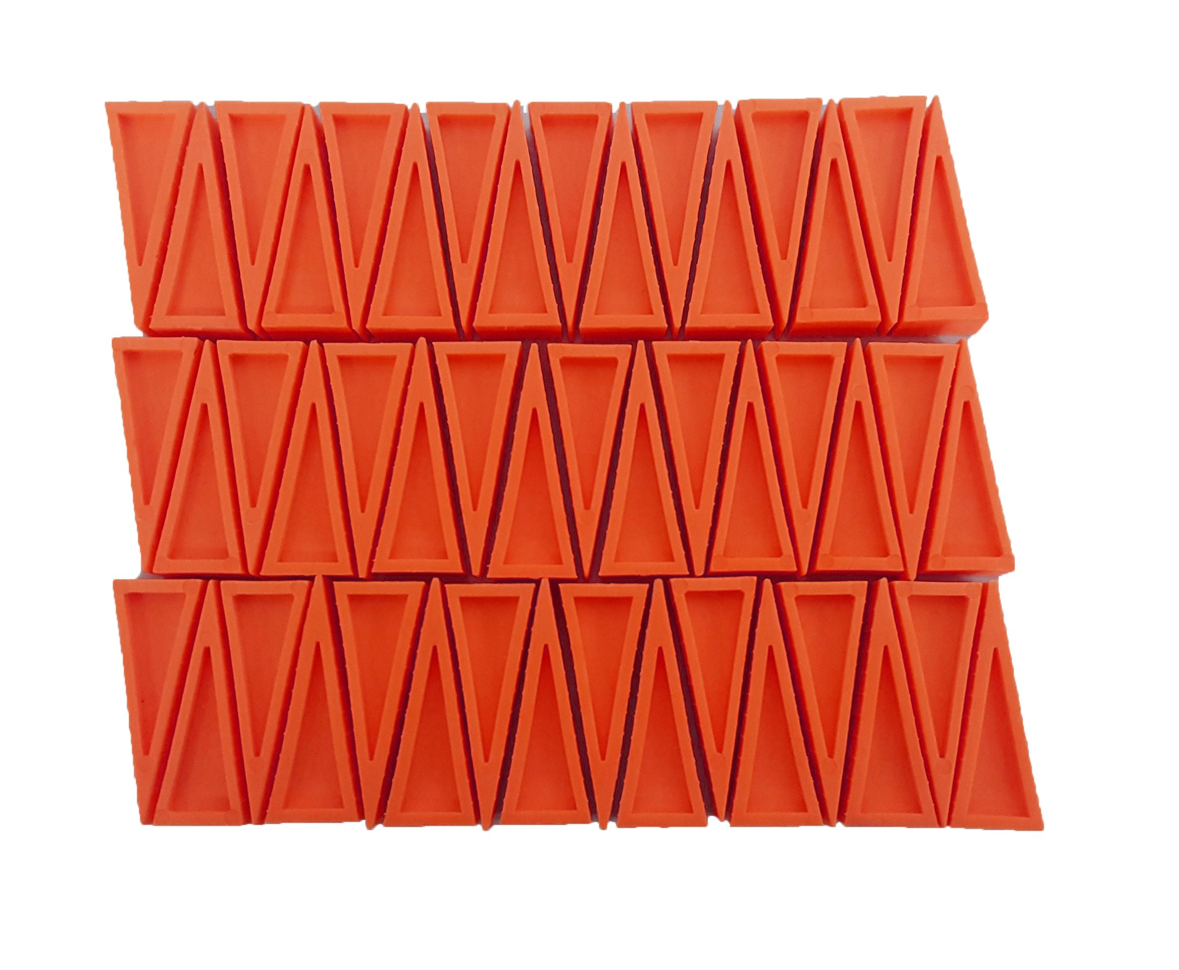 LINE2design Premium Sprinkler Wedges - Firefighter Door Stopper Heavy Duty Plastic Rubber Safety Doors Opener (Pack of 50, Orange)