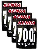 Kenda 700 x 23/25c Bicycle Inner Tubes - 32mm Presta Valve - FOUR (4) PACK