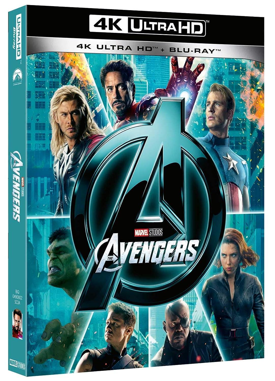 The Avengers Blu-Ray 4K Ultra HD+Blu-Ray Italia Blu-ray: Amazon.es: Jenny Agutter, Paul Bettany, Robert Downey Jr, Chris Evans, Chris Hemsworth, Tom Hiddleston, Samuel L. Jackson, Scarlett Johansson, Bruce Paltrow, Jeremy Renner, Mark