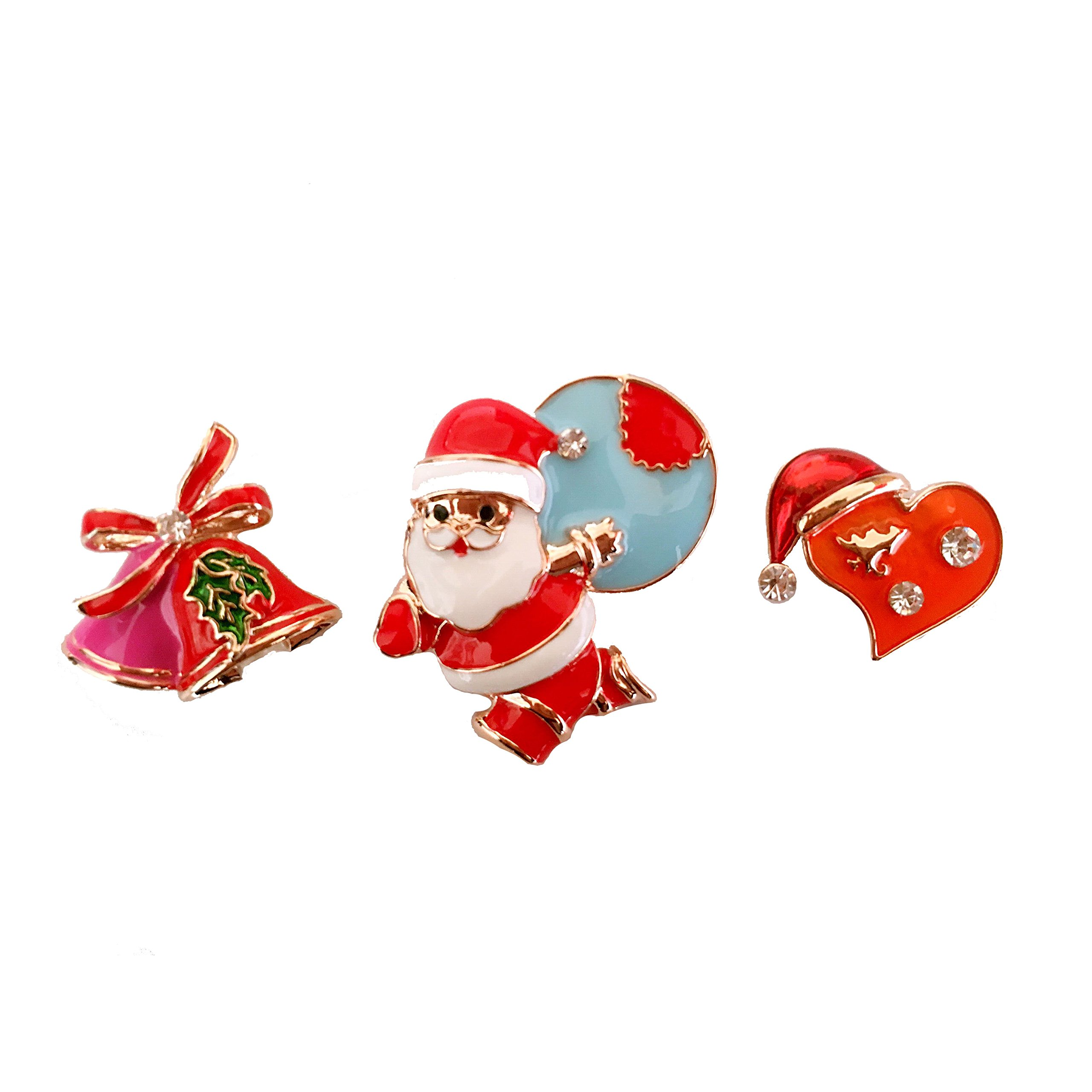 Sparkle Gift and Christmasman Holiday Pin Brooch