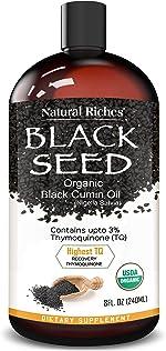 Organic Black Seed Oil USDA Pure Premium Quality Black Cumin Seed