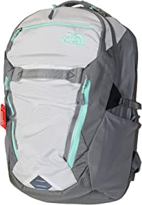 "The North Face Women's Surge Backpack School Student Laptop Bag 15"" (Tnf White/surf green)"