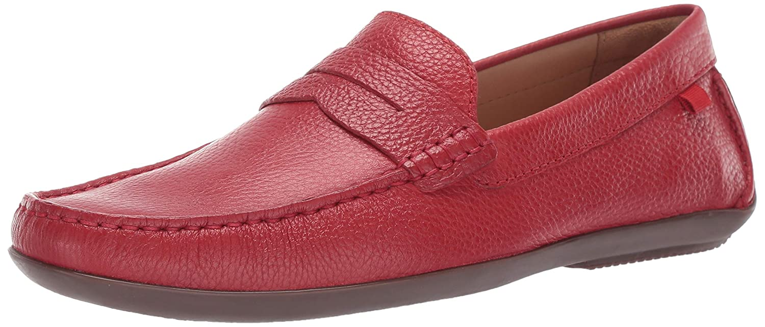 Red Grainy MARC JOSEPH NEW YORK Mens Mens Genuine Leather Union Street Driver Loafer