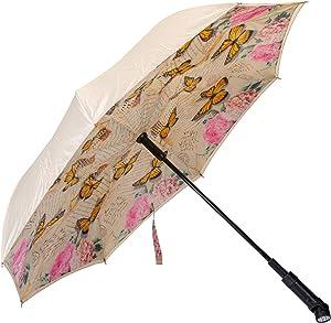 Revers-A-Brella Portable No Drip Inverted Auto Open Lighted Handle Umbrella