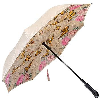 fc0e81fbf68e3 Revers-A-Brella Portable No Drip Inverted Auto Open Lighted Handle Umbrella