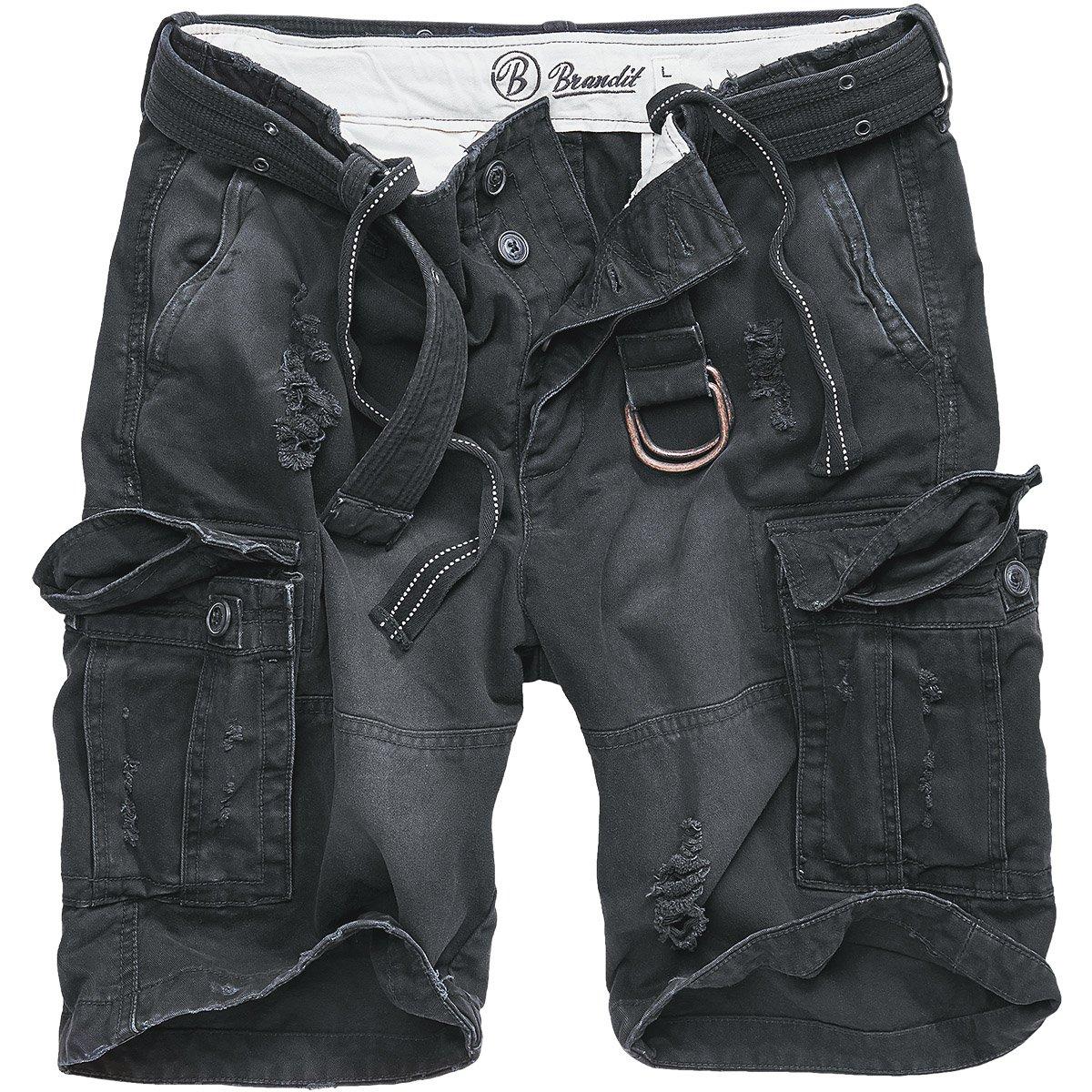 Brandit Shell Valley Heavy Vintage Shorts Black Size S