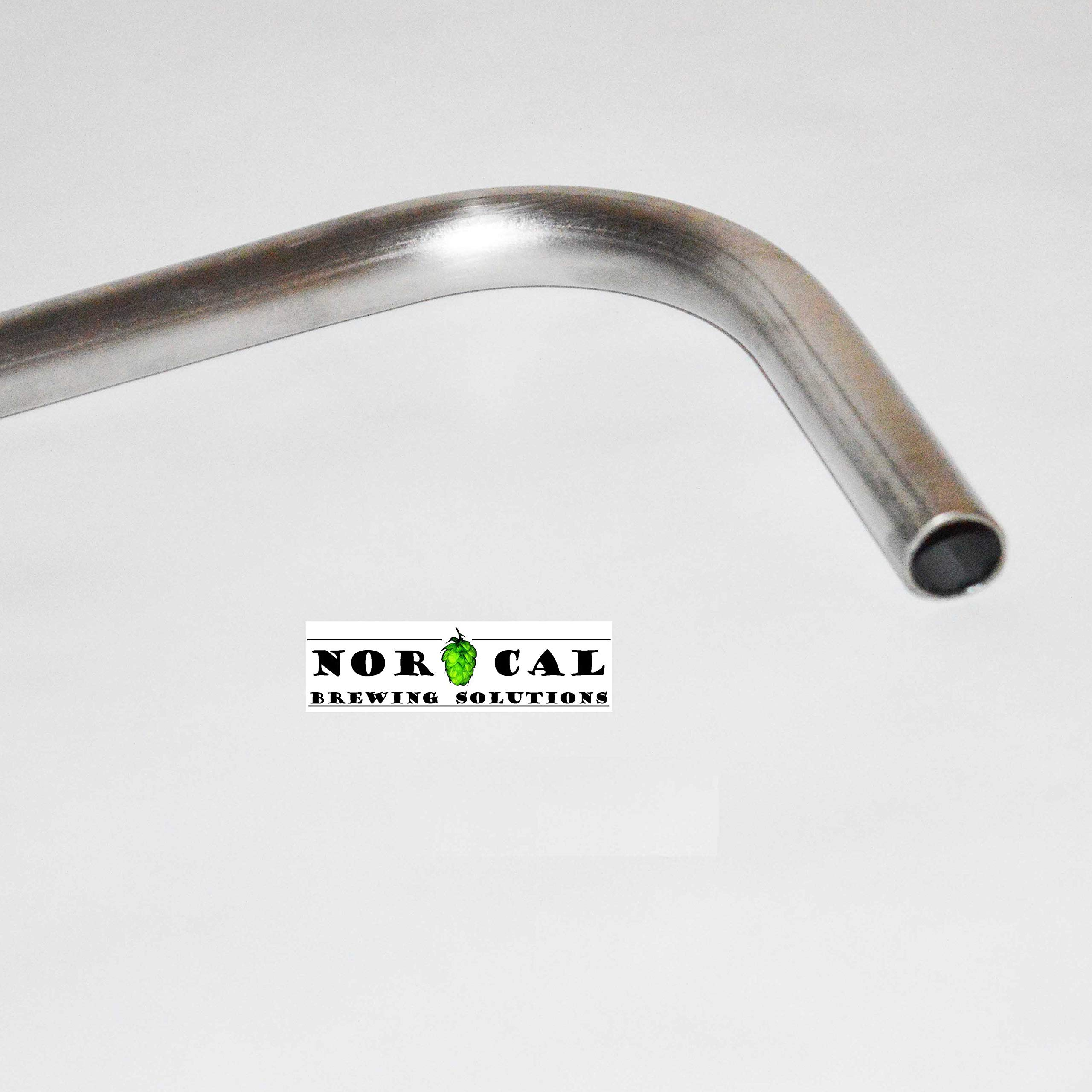 Jaybird 304 Stainless Steel 34'' Long x 1/2'' Diameter Racking Cane for Barrels by NorCal Brewing Solutions (Image #2)