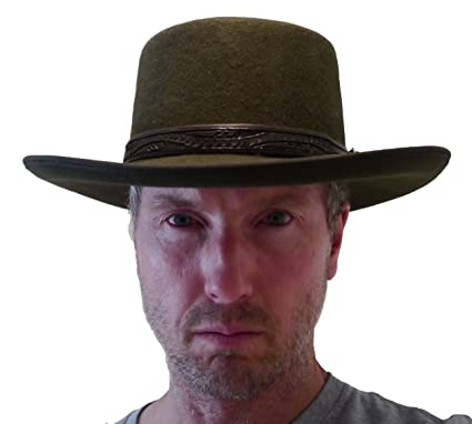 4aa980fe98747 Straightline Clint Eastwood Spaghetti Western Cowboy Hat - Wool Felt (7)  Brown Green