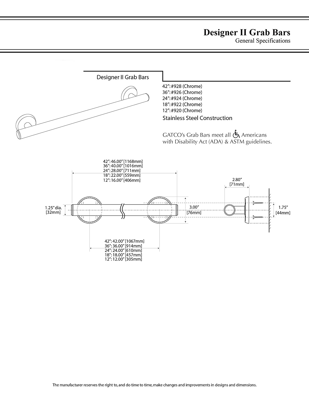 Gatco 926 Designer II 36\