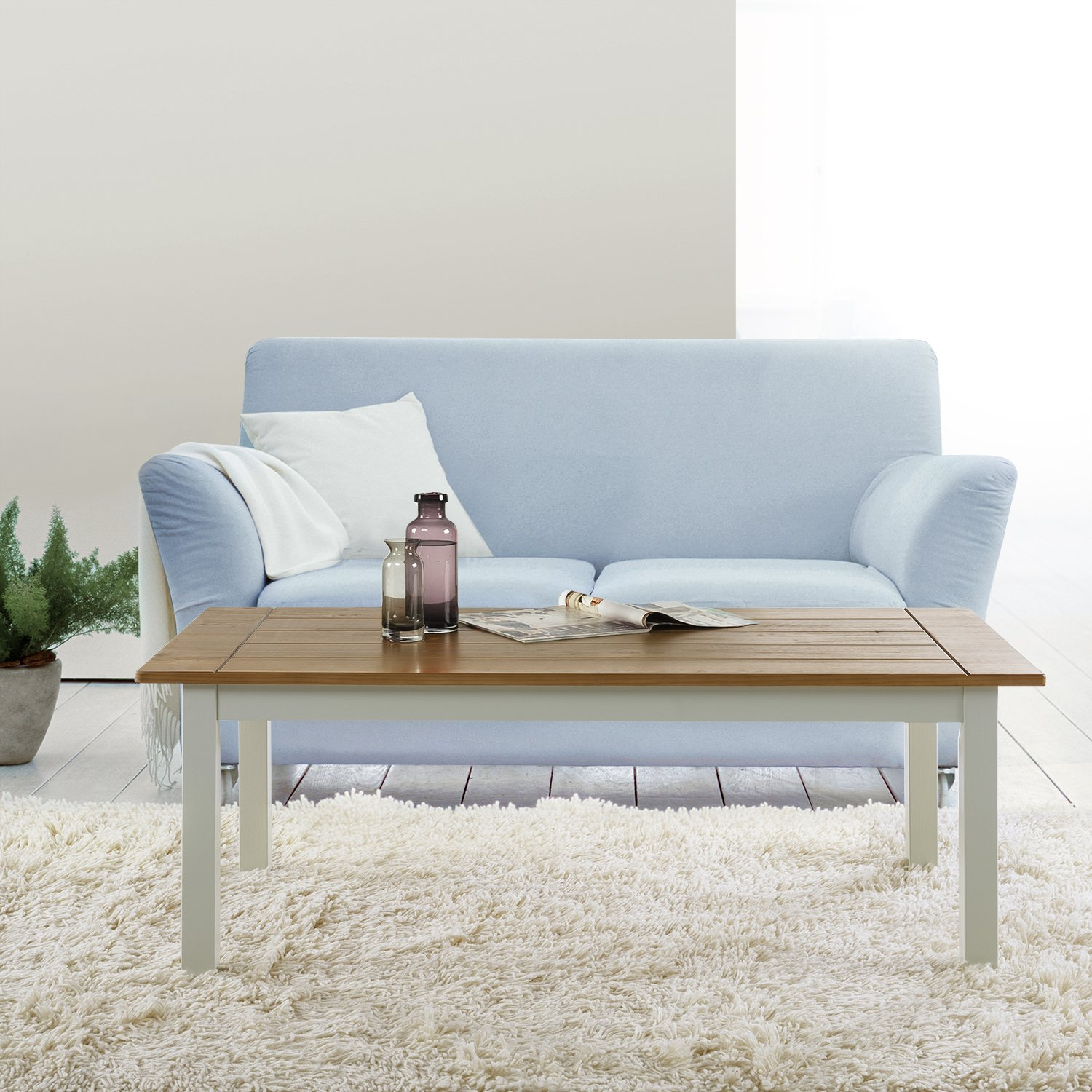Zinus Farmhouse Wood Coffee Table