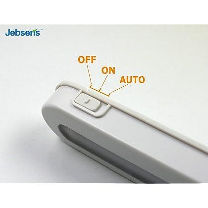 Battery Operated Motion Sensor Light - JEBSENS T01 LED Closet Light, Under Cabinet Led Lighting, Motion Sensor Light Switch, 14 Bright Cool White LED, Adjustable Wireless Portable, On/Off/Auto Modes