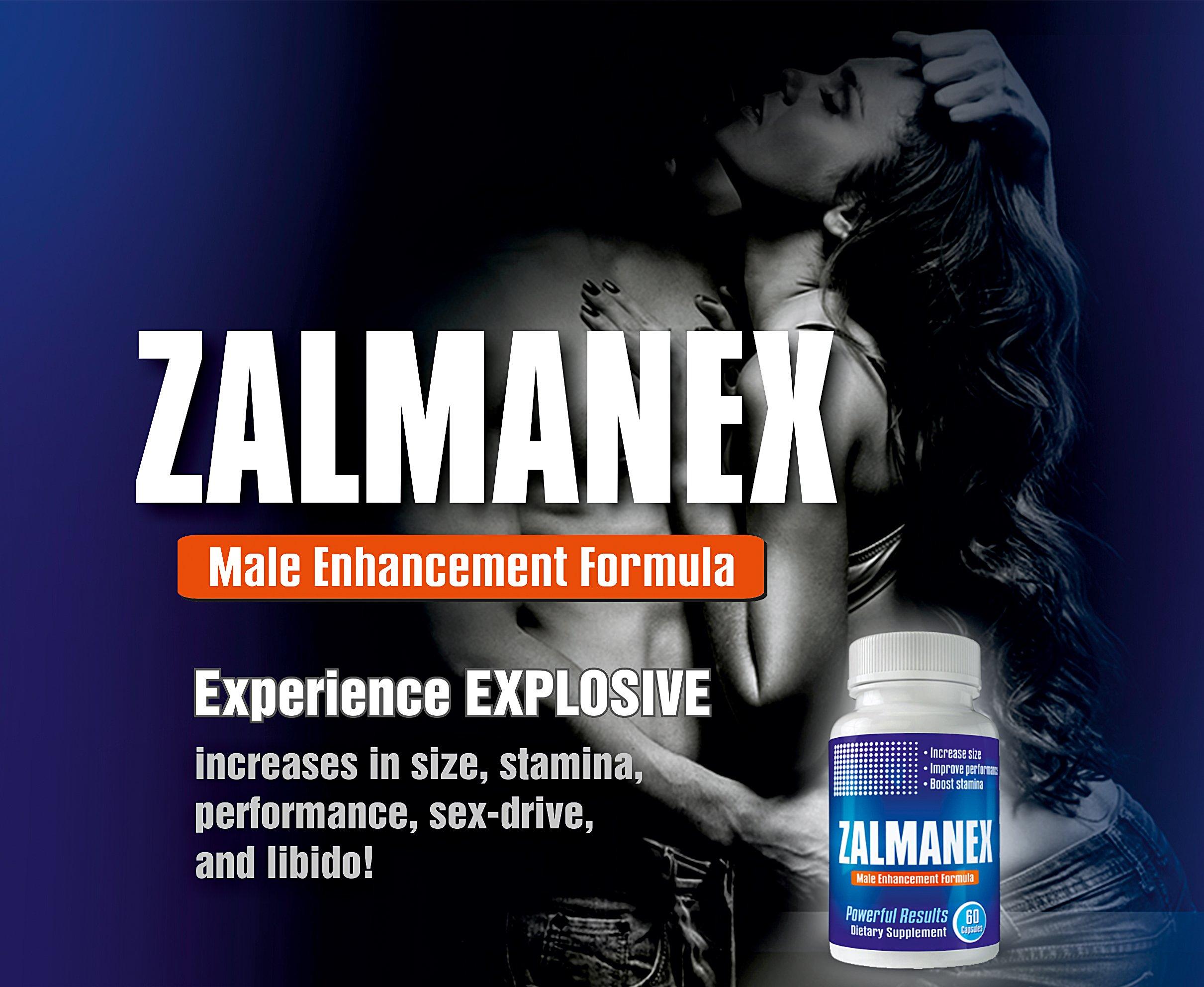Zalmanex Male Enhancement Pills - Enlargement Pills for Men - Male Performance Pills - Increase Size, Stamina, Sex-Drive - Erection Pills - Testosterone Booster - Muira Puama, Tongkat Ali