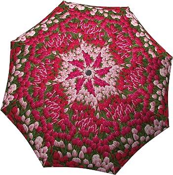 DOENR Compact Travel Umbrella Gold Pattern Sun and Rain Auto Open Close Umbrellas Windproof UV Protection Umbrella
