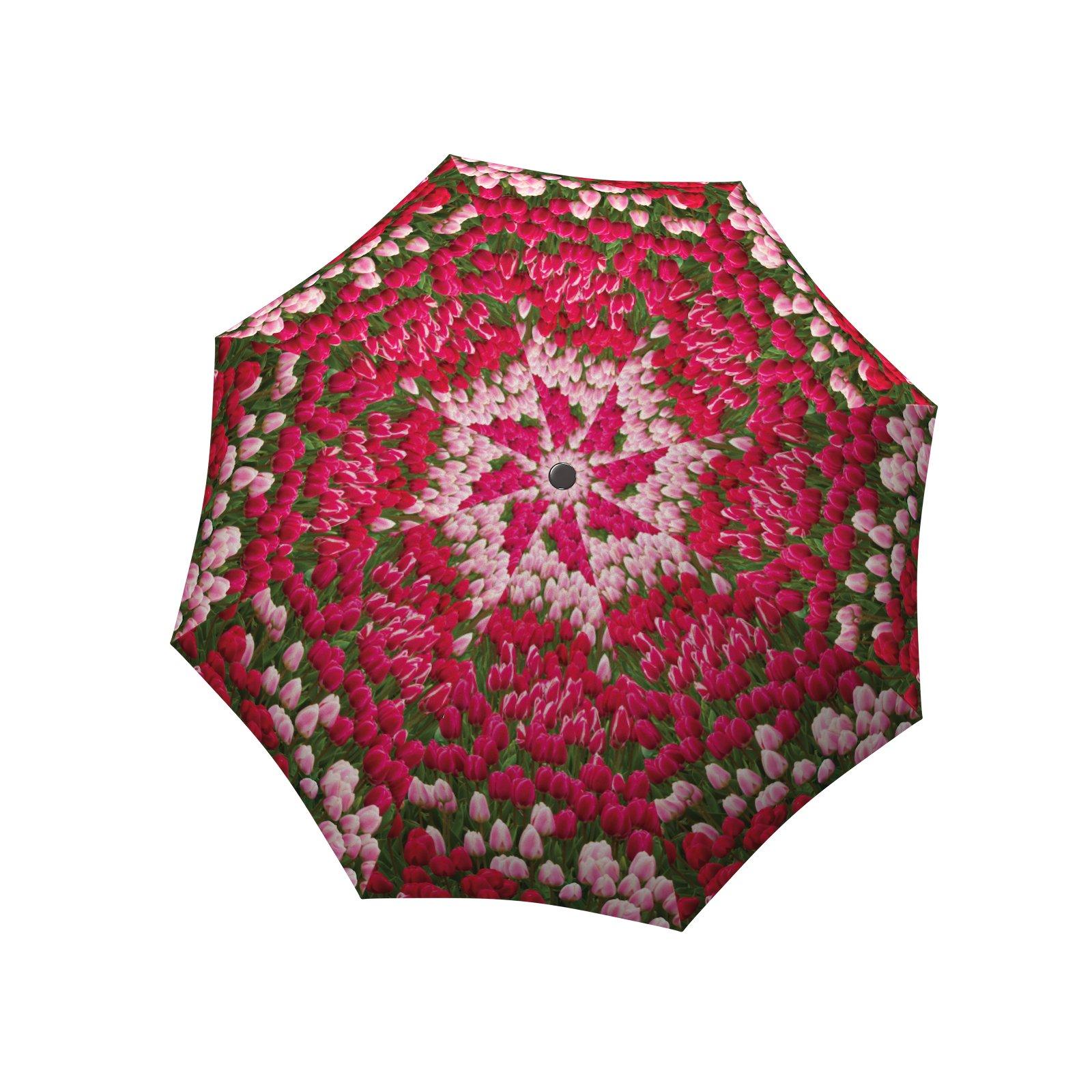 LA BELLA UMBRELLA Tulips Designer Unique Art Travel Fashion Umbrella in Stylish Gift Box - Windproof Folding Automatic Open Close