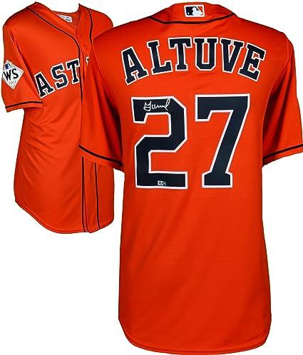 a22b0241d Jose Altuve Houston Astros 2017 MLB World Series Champions Autographed  Majestic World Series Orange Replica Jersey - Fanatics Authentic Certified  at ...