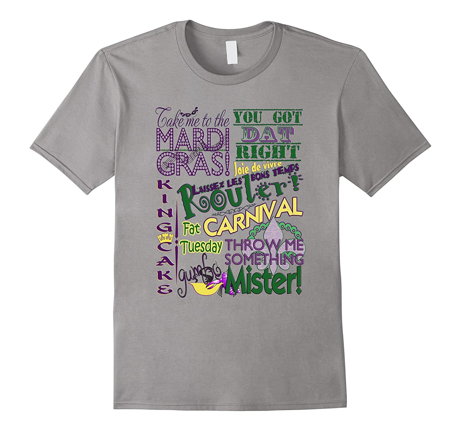 Take Me To The Mardi Gras Whimsical Subway Art T-Shirt-TD