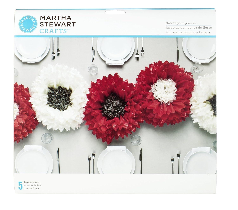 Amazon Martha Stewart Crafts 44 10217 Tissue Pom Pom Kit Deep