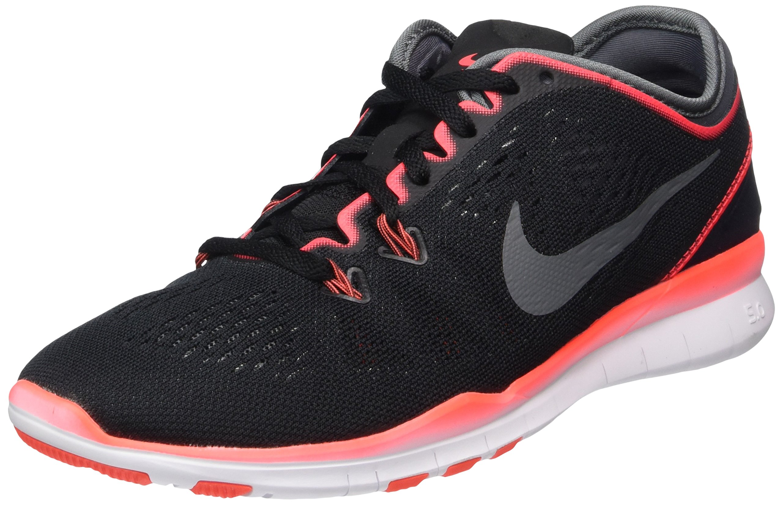 Nike Women's Free 5.0 TR Fit 5 Training Shoe Black/Bright Crimson/White/Grey Size 7 M US