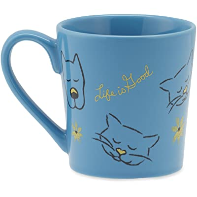 Life is Good Everyday Rocket Cat Toss Mug