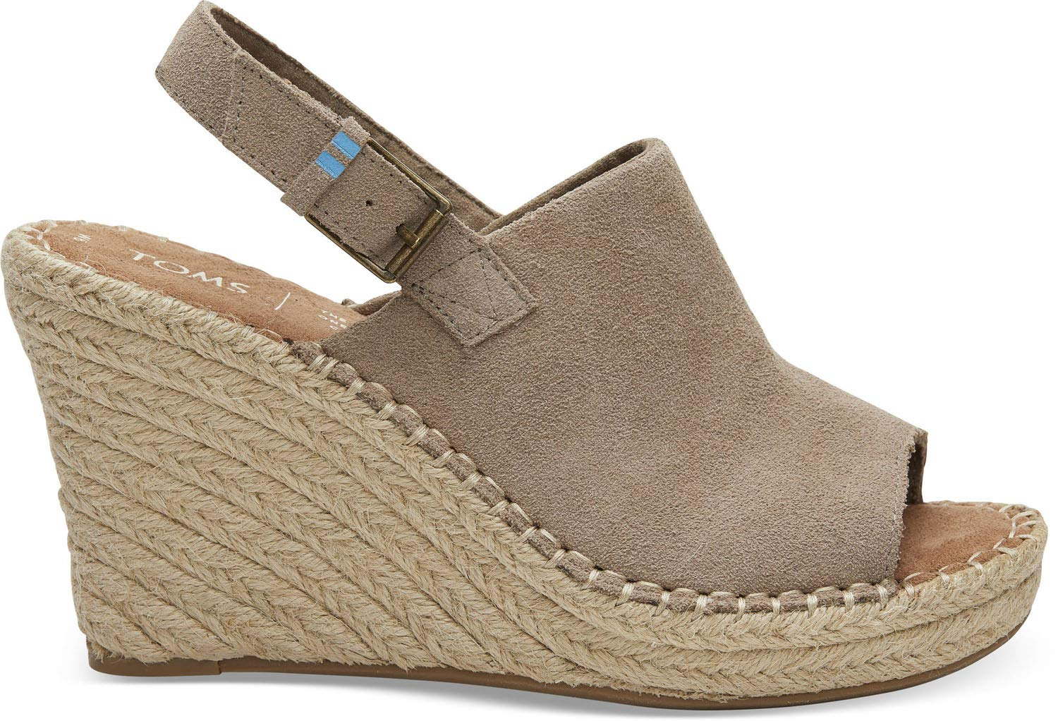 TOMS Women's Monica Wedge, Size: 5 B(M) US, Color: Desert Taupe Suede