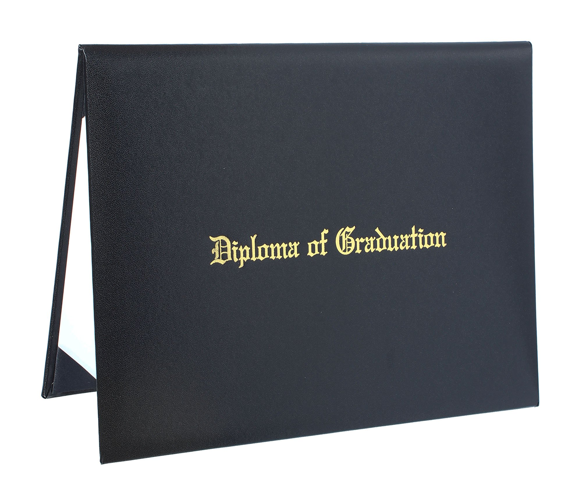 GraduationService Smooth Diploma Cover with Gold Imprinted ''Diploma of Graduation'' 8 1/2'' x 11''