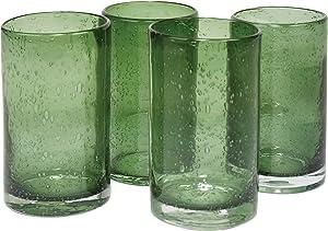 Artland Iris Hiball Glass, Set Of 4, 17 oz, Sage