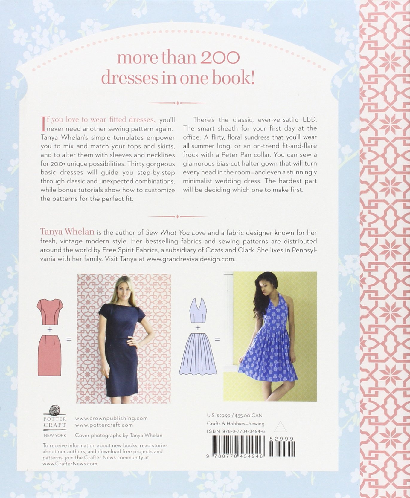 Amazon.com: Sew Many Dresses, Sew Little Time: The Ultimate Dressmaking  Guide (9780770434946): Tanya Whelan: Books