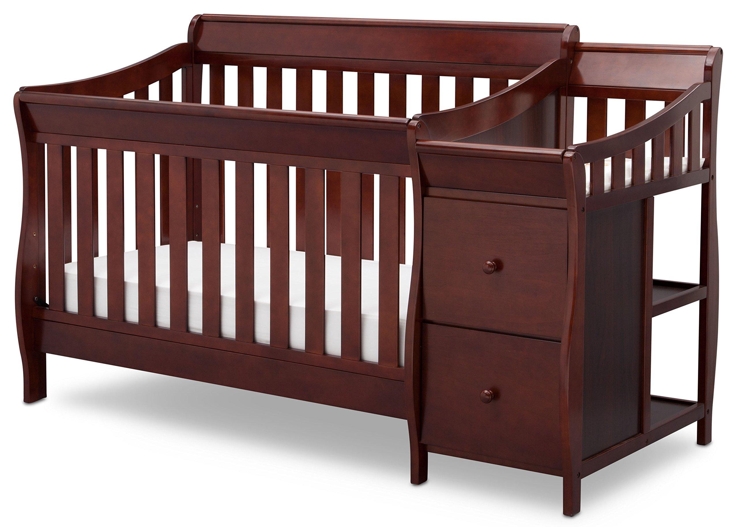 Delta Children Bentley S Convertible Crib N Changer, Black Cherry Espresso
