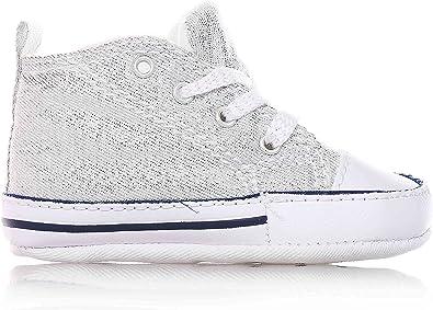 Converse – Argent Chaussures à lacets bébé Berceau, Logo ...