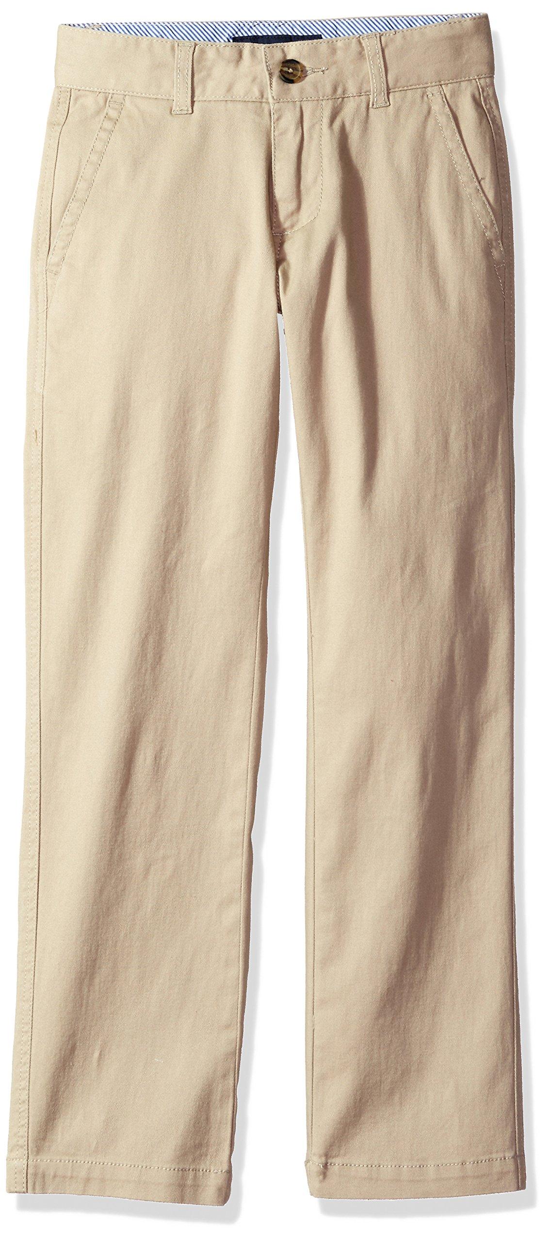 Tommy Hilfiger Boy's Big Academy Chino Pant, Travel Khaki, 12