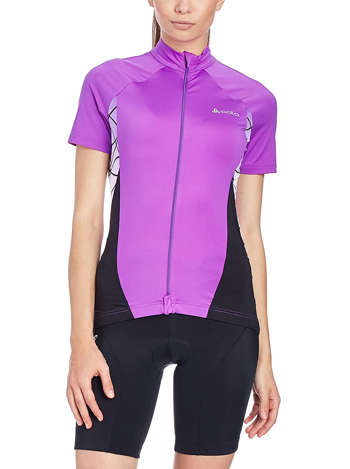 Odlo Tarmac Stand-up collar S S full zip Damens violet-schwarz
